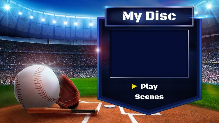 Sport DVD-Menüvorlage